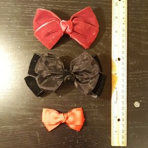 Set of Three Handmade Bows